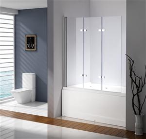 3 Fold Chrome Folding Bath Shower Screen