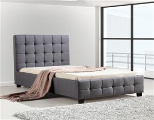 King Single Linen Fabric Deluxe Bed Fram