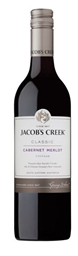 Jacob's Creek `Classic` Cabernet Merlot 2018 (12 x 750mL), SE, AUS.