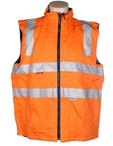 HARD YAKKA Reversible Cotton Drill Vest,
