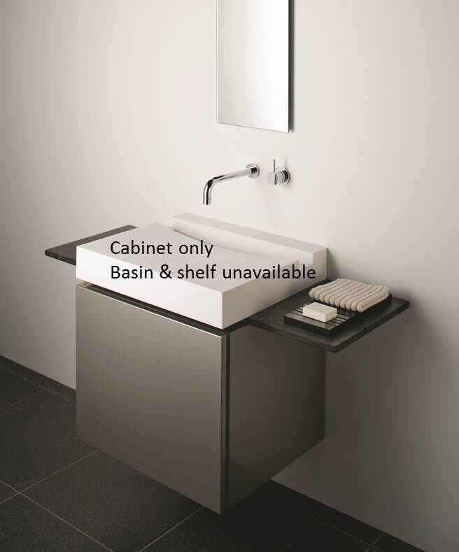 Omvivo KL Wall Hung Bathroom Cabinet in Gunmetal Thermofoil