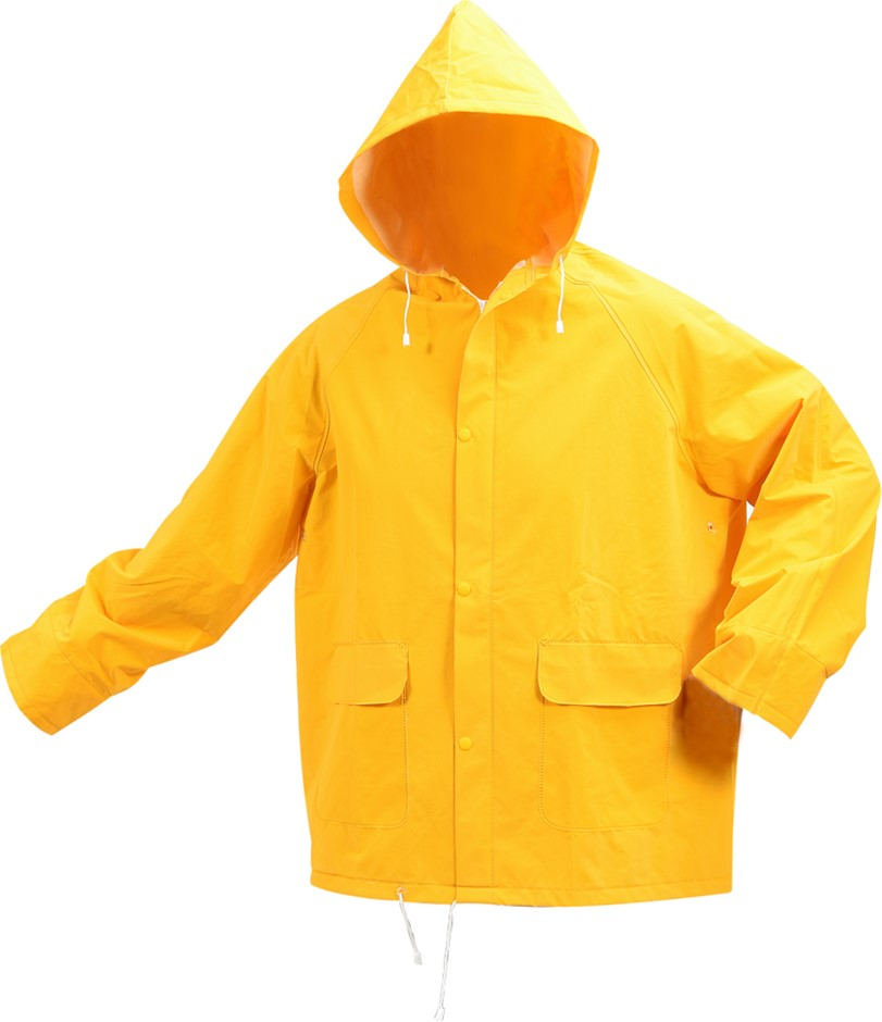 VOREL by TOYA PVC Rain Jacket, Size 2XL, Zip/Press Stud Front Closure. Buye