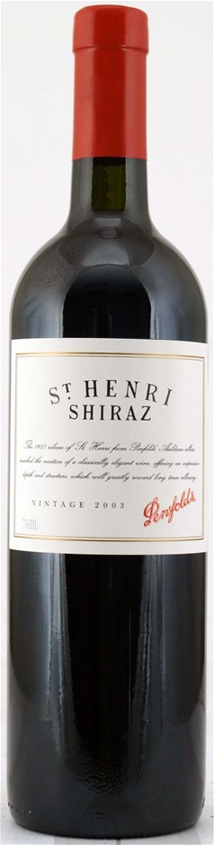 Penfolds `St Henri` Shiraz 2003 (6 x 750mL), Multi-regional, SA.