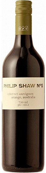 Philip Shaw `No.5` Cabernet Sauvignon 2015 (6 x 750mL), Orange, NSW.