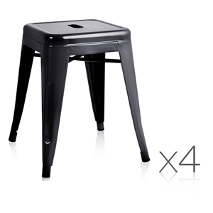 buy set of 4 tolix replica bar stool graysonline australia