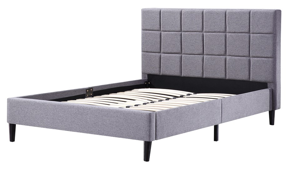 White Metal Double Bed Frame Graysonline