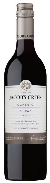 Jacob's Creek `Classic` Shiraz 2017 (12 x 750mL), SE AUS.