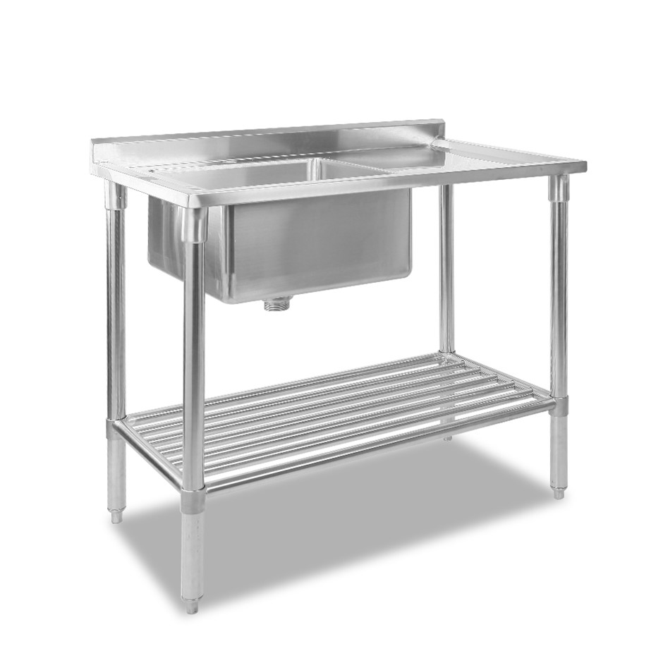 Cefito 100 x 60cm Commercial Stainles Steel Kitchen Bench