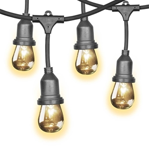 FEIT 14.6M LED Indoor/Outdoor String Lights with 24 x Light Sockets ...