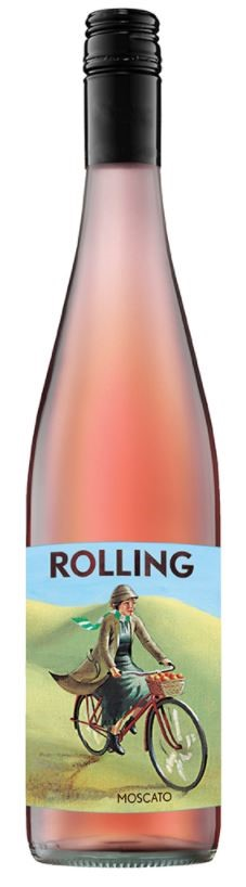 Rolling Moscato 2017 (12 x 750mL), Central Ranges, AUS