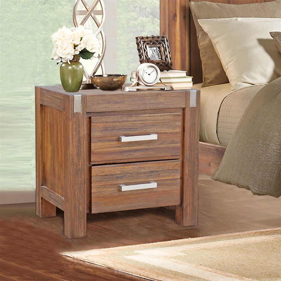 Freedom bedside tables graysonline freedom coffee tables vintage design bedside table brush walnut geotapseo Gallery