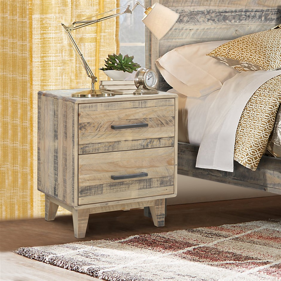 Rustic Look Bedside - Wood Nature