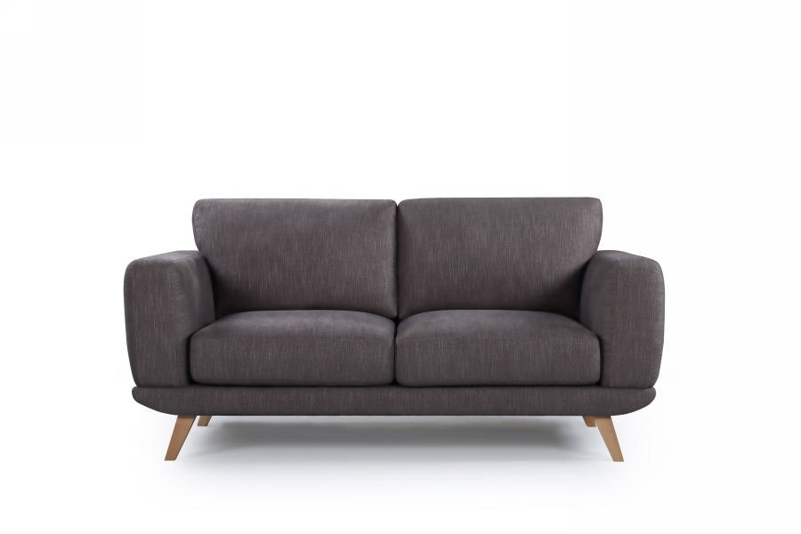 Solid wooden frame Sofa 2 Seater Brown