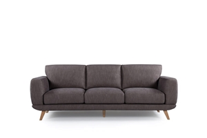 Solid wooden frame Sofa 3 Seater Brown