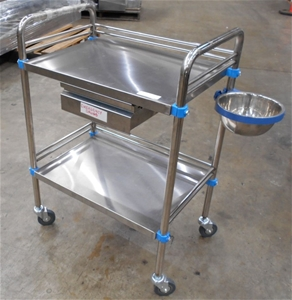 Stainless steel single draw medical trol
