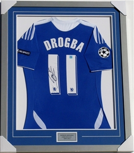 new concept 7b739 153a1 Didier Drogba Signed And Framed Chelsea Jersey - COA provided