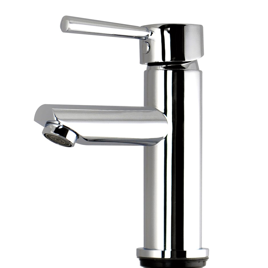Round Chrome Basin Mixer Tap Brass Faucet Watermark and WELS Approved