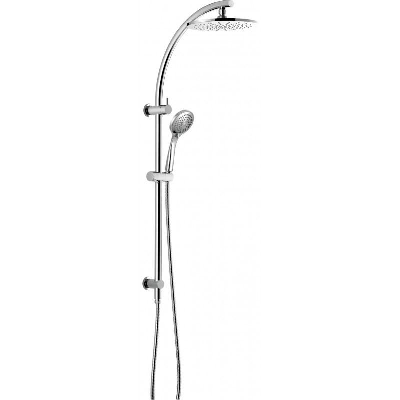200mm Round Chrome Twin Rainfall Shower Station Handheld Spray HeadSet WELS