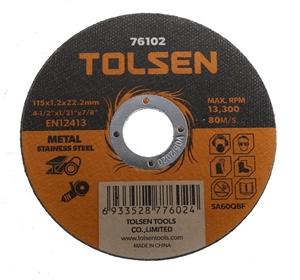 50 x TOLSEN Type 41 Flat Cut-Off Wheels,
