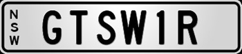 GTSW1R Number Plate (NSW PLATE)