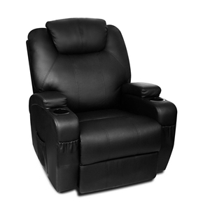 Artiss PU Leather Massage Armchair - Bla