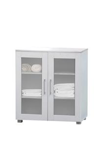 Aspen Double Door Floor Unit - White