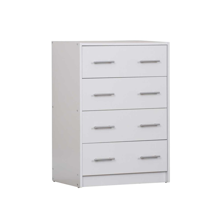 Chest of 4 Drawers - White
