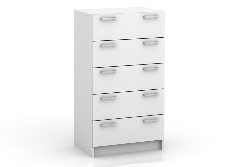 Tribecca 5 Drawer Chest - White