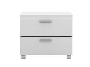 Elisha High Gloss 2 Drawer Side Table -