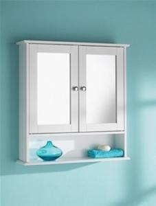 Maine Double Door Mirrored Bathroom Cabi