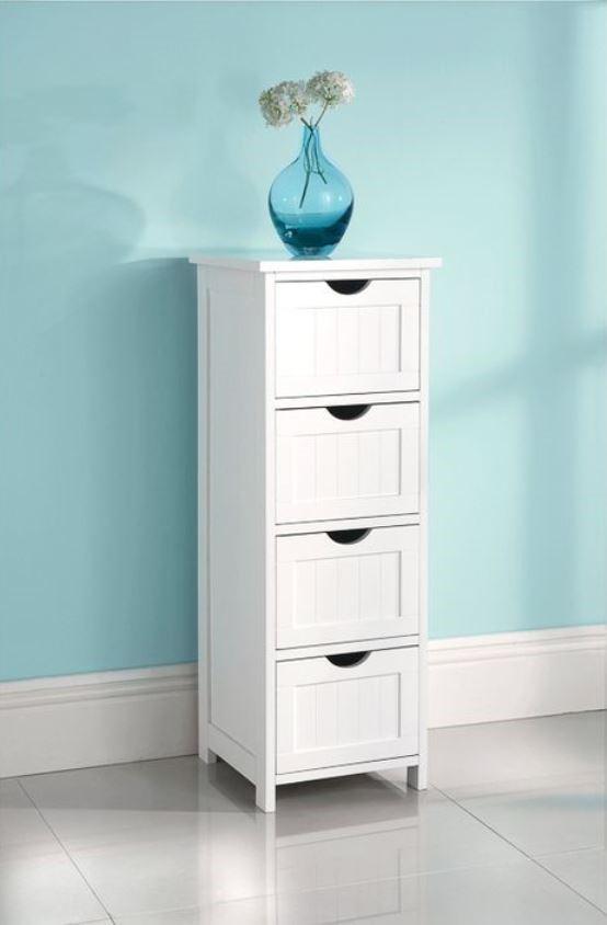Maine 4 Drawer Multipurpose Bathroom Cabinet