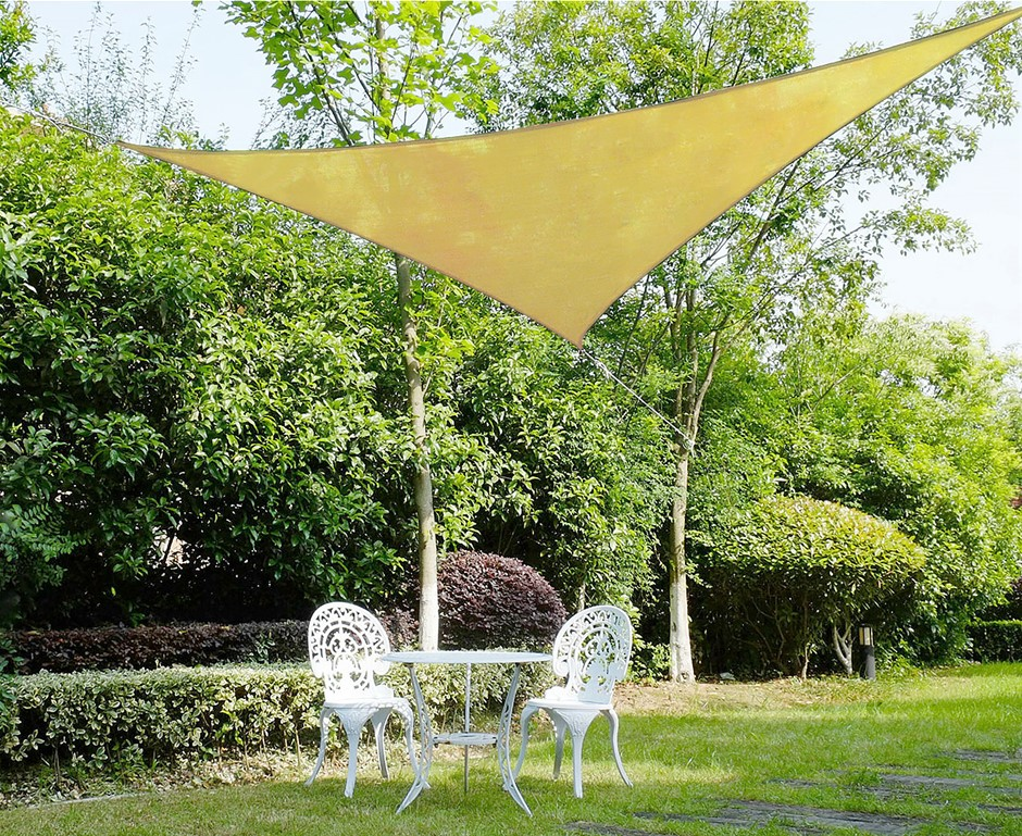 Wallaroo Shade Sail 3.6 x3.6 x 3.6m Triangle