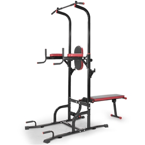 76167eb4c8d Buy Powertrain Multi Station Chin-Up Tower with Exercise Bench ...