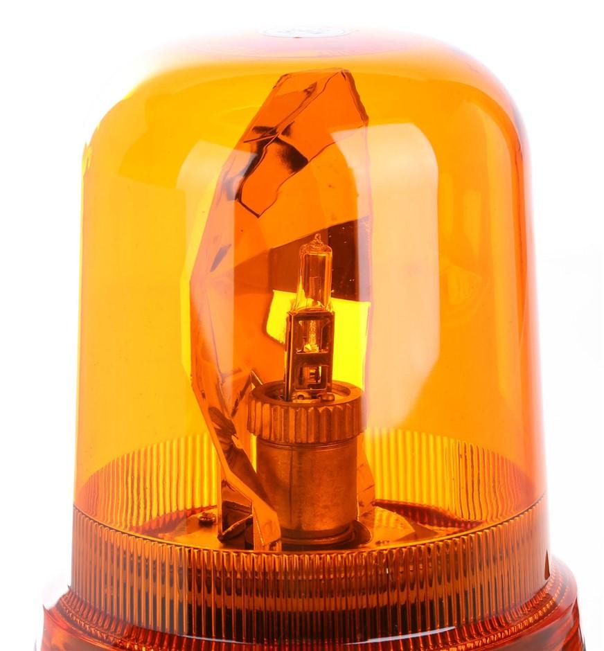 JMV Revolving Warning Beacon with Magnetic Base, 12/24V 155mm x 200mm