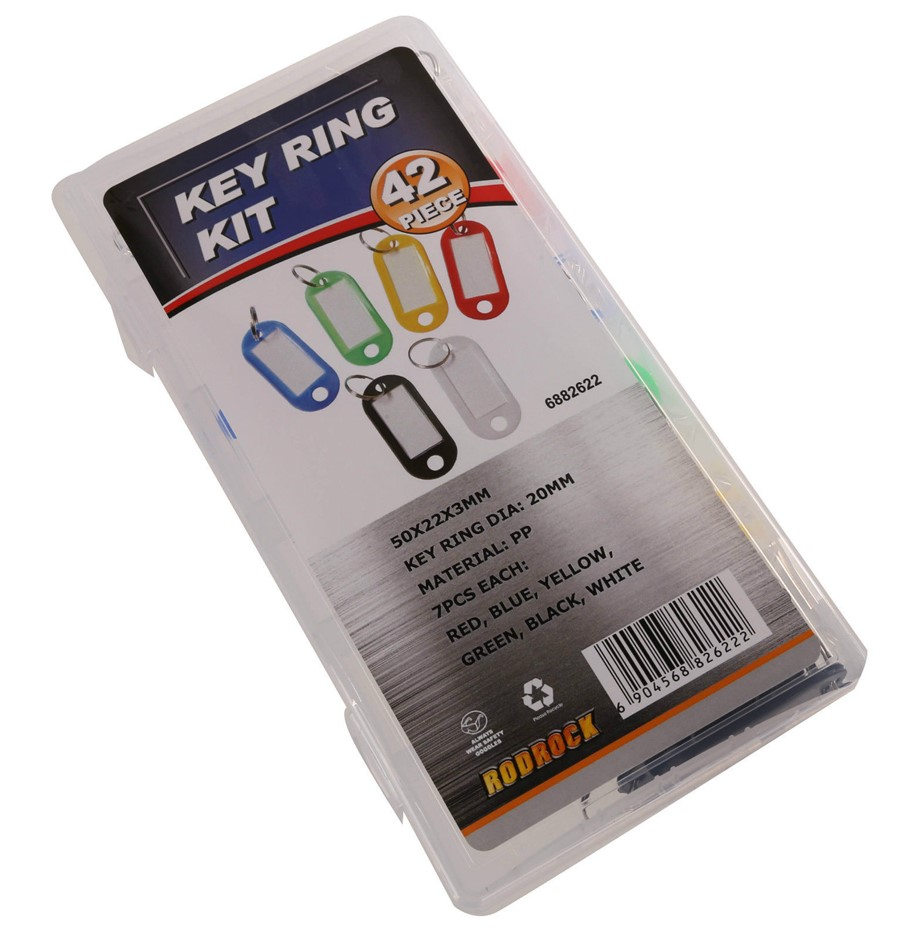 JMV 42pc Key Ring Kit in PVC Storage Case