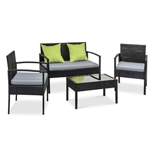 Gardeon 4 Piece Outdoor Wicker Furniture