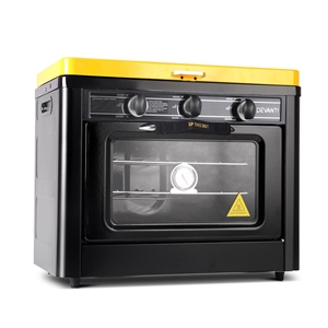 Devanti 3 Burner Portable Oven - Black &