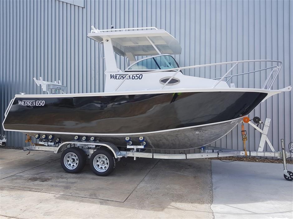2019 WILDSEA 650 Cuddy Cabin Aluminium Boat & Trailer