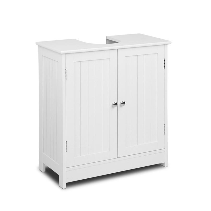 Pedestal Sink Storage Cabinet White