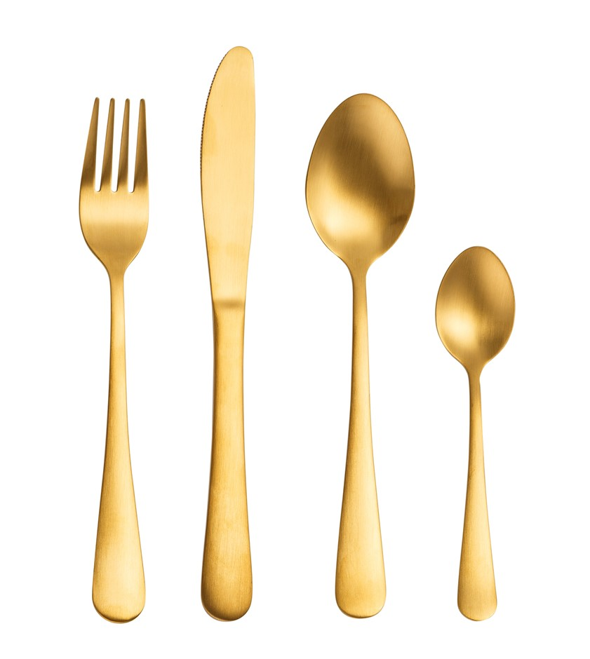 16PC Matt Gold stainless steel set
