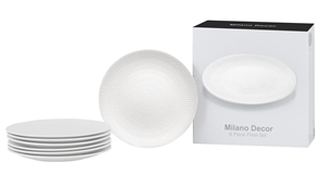 Milano Decor Stoneware 6 Pcs Plate Set -