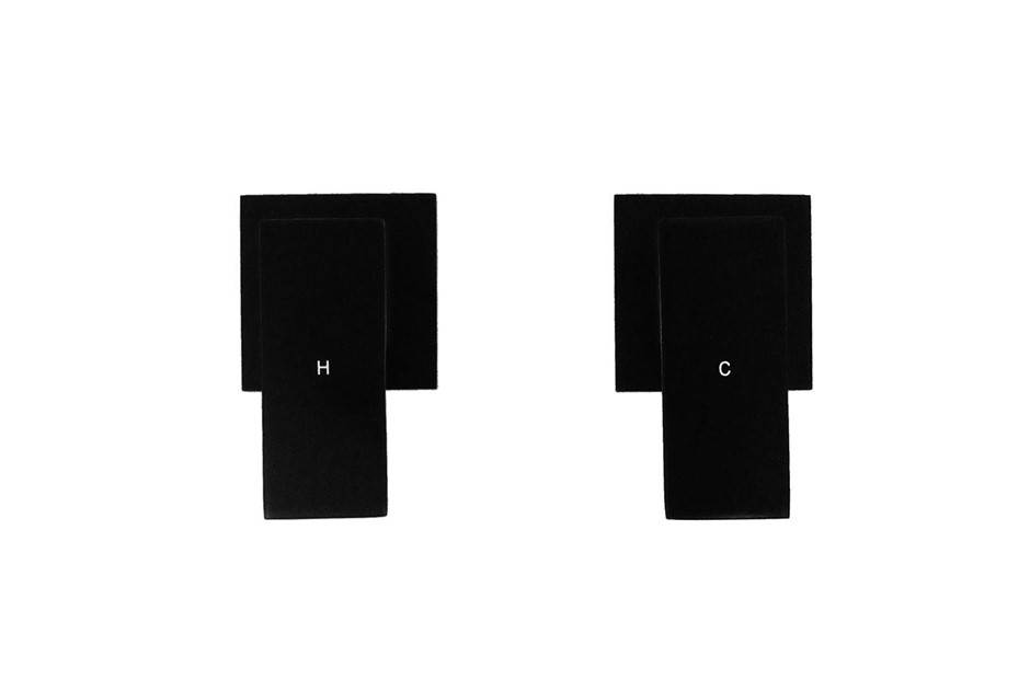 Chrome Bathroom Shower / Bath Mixer Tap Set Matte Black