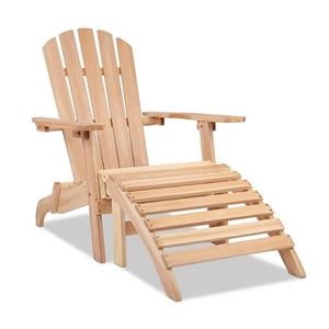 Gardeon Outdoor Wooden Lounge Chair - Na