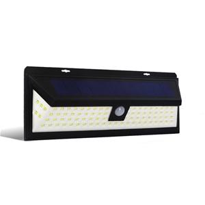 86 LED Solar Powered Senor Light - Black