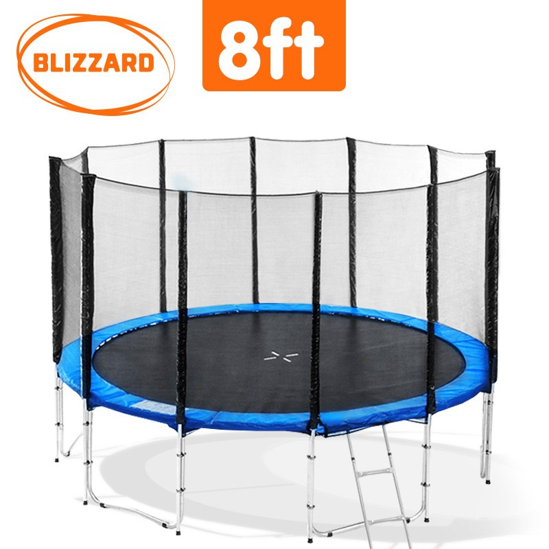 Blizzard 8 ft trampoline with net - Blue