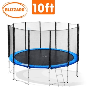 Blizzard 10 ft trampoline with net - Blu