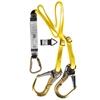 MSA 2M Twin Leg Web Shock Absorbing Lanyard c/w Aluminium Scaffold Hooks &