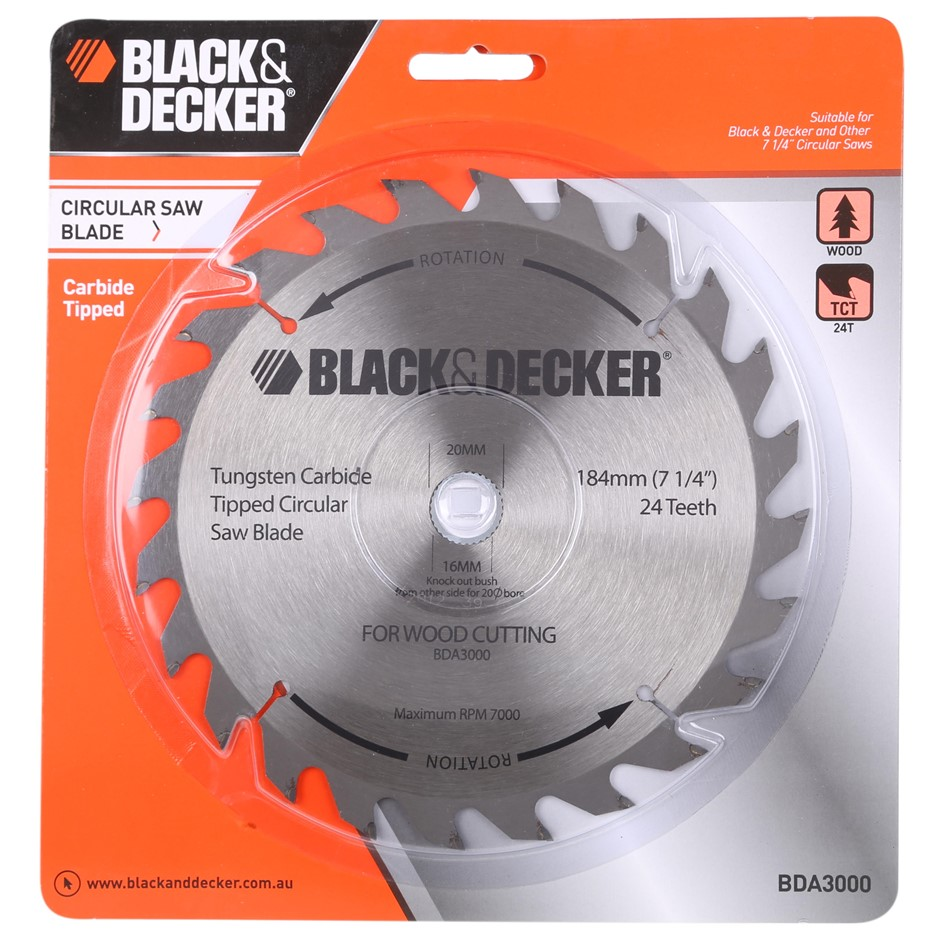 Circular saw sale home hardware melbourne graysonline 2 x black decker 184mm circular saw blades for wood with tungsten tips greentooth Gallery