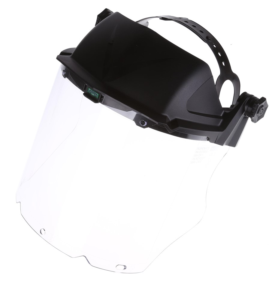 5 x MSA V-Gard Hi Impact Clear Polycarbonate Face Shields with Fully Adjust