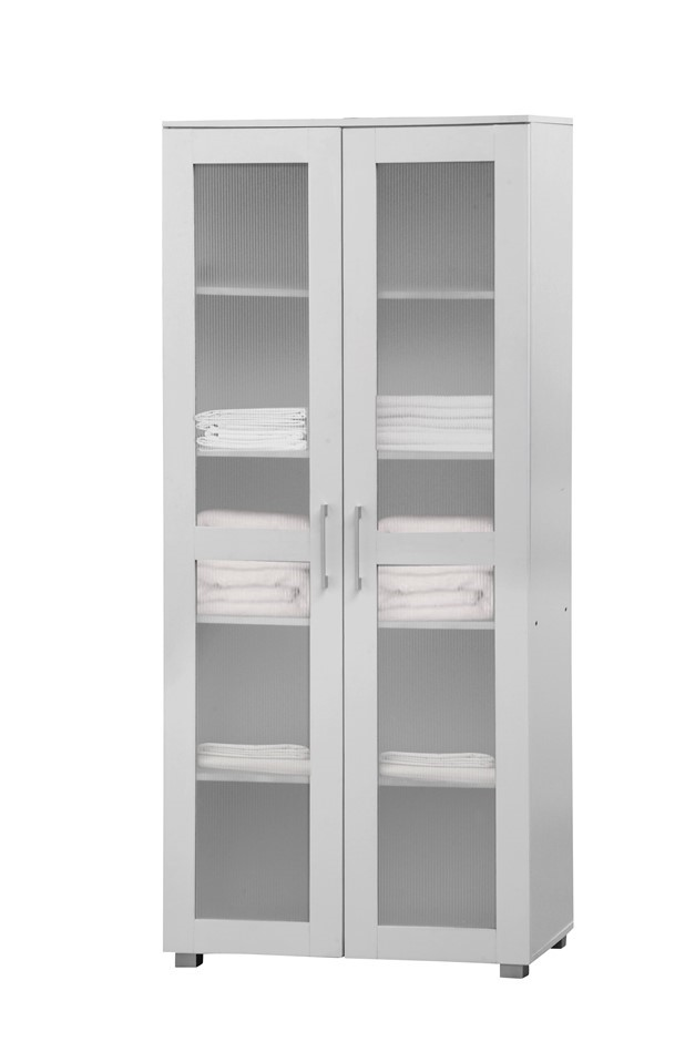 Aspen Double Door Cupboard - White